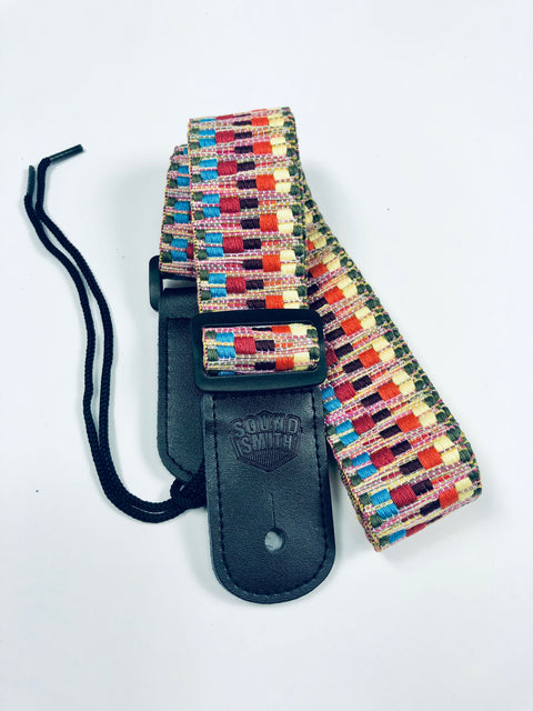 Sound Smith Jacquard woven Ukulele Strap - SOUND SMITH  Ukulele Straps - Colorful ukulele straps - ukulele accessories