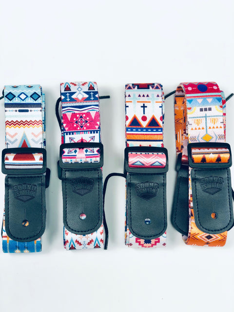 Sound Smith Aztec Ukulele Straps - SOUND SMITH  Ukulele Straps - Guitar Capo Ukulele Straps - Ukulele accessories - best uke strap