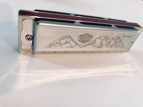 Harmonica stainless steel rosewood comb