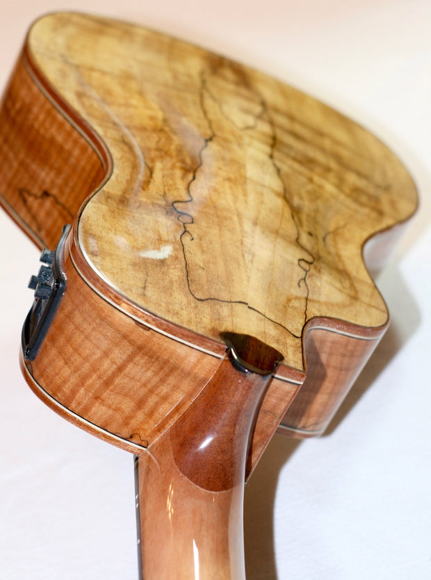 Sound Smith Concert Spruce/Spalted Maple Arched Back Acoustic-Electric Cutaway - SOUND SMITH  Ukulele - Guitar Capo Ukulele - Guitar picks