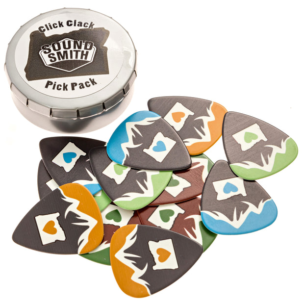 Medium Guitar Picks - 12 pick pack with case - SOUND SMITH  Guitar Picks - Guitar Capo Guitar Picks - Guitar picks