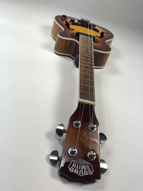NEW! Sound Smith Electric Hollow Body Tenor Ukulele  - Antique Sunburst