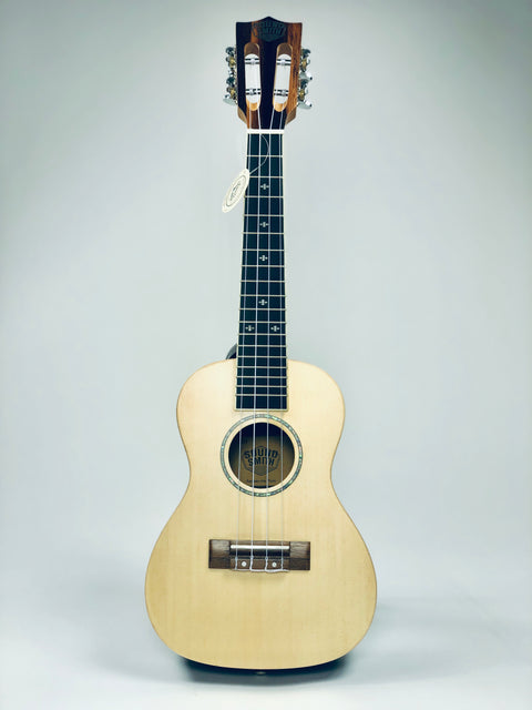 Sound Smith Spruce Ebony Concert SE-24 - SOUND SMITH   - Solid Spruce and ebony concert ukulele