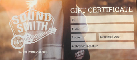 Sound Smith Gift Cards ❤️
