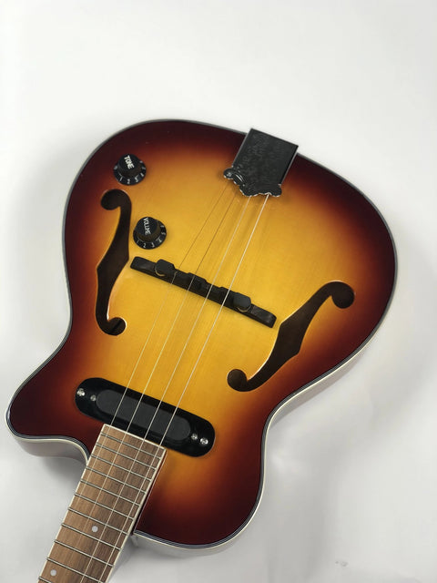 NEW! Sound Smith Electric Hollow Body Tenor Ukulele  - Antique Sunburst - SOUND SMITH  Ukulele - Guitar Capo Ukulele - Guitar picks