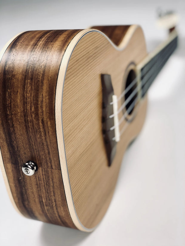 NEW!! Sound Smith Solid-body Cedar/Koa Ukulele - SOUND SMITH  Ukulele - Guitar Capo Ukulele - Guitar picks