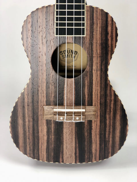 Sound Smith Ebony Ukulele - SOUND SMITH   - Concert ukulele - tenor ukulele - ebony