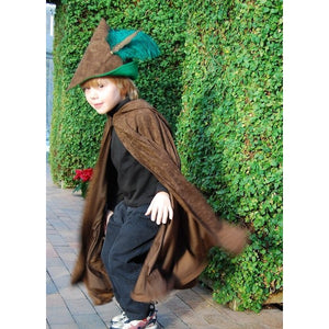 creative play cape and robin hood hat for kids