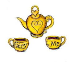 Fairy Finery tea set illustration