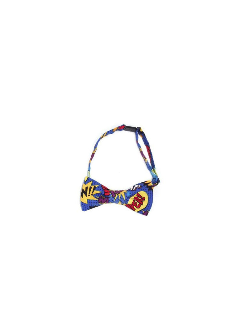 Boys Fly Guy bowtie in multicolor Pow! Bam! Wham! print