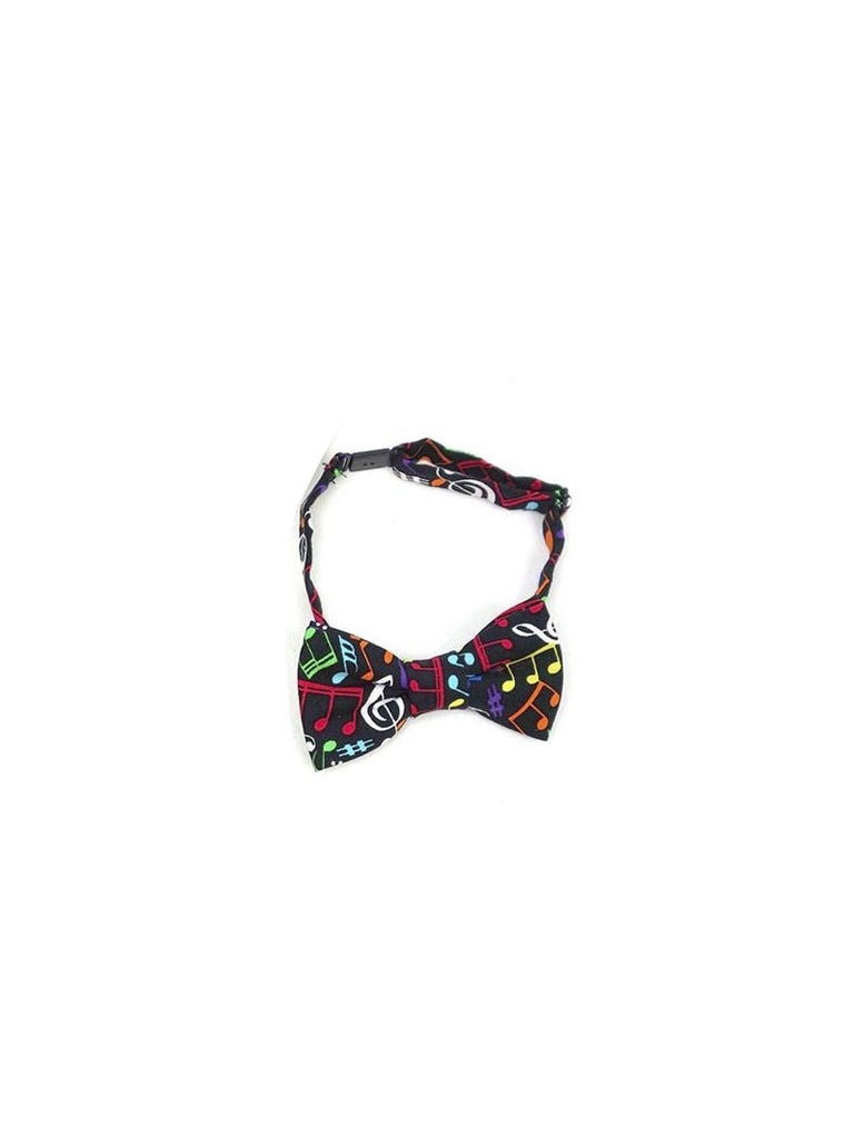 Boys Fly Guy bowtie in multicolor musical note print