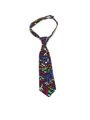 Fly Guy toddler necktie in multicolor musical note print