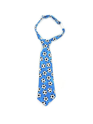 Fly Guy toddler necktie in blue soccer print