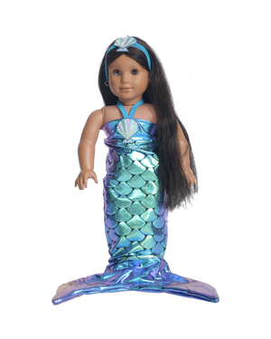Shiny Mermaid with Tail Doll Outfit