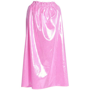 shiny pink princess cape kids