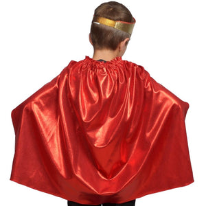 back of kids red costume cape