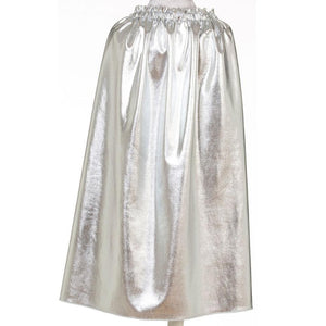 kids shiny silver costume cape
