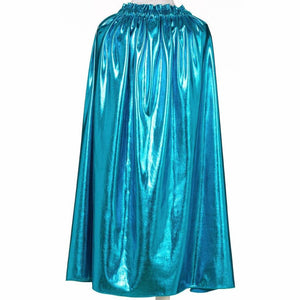 shiny teal kids costume cape