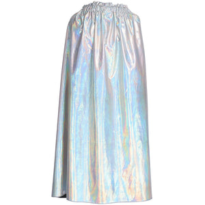 kids shiny silver dress up cape