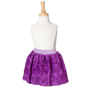 girls purple ribbon rose party skirt