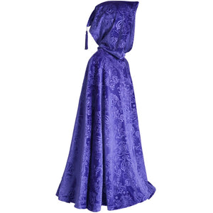 embossed purple velvet child's cape made in usa