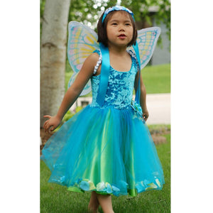 girl dressed up as a fairy