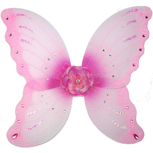 girls light pink fairy wings with flower