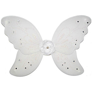 girls white fairy wings with flower