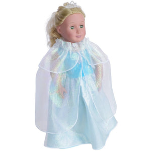 Doll Frozen princess style dress and cape set