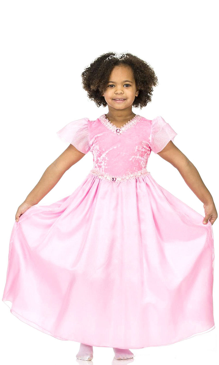 girl wearing pink princess dress