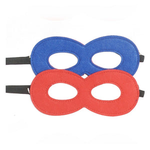 blue and red felt superhero mask