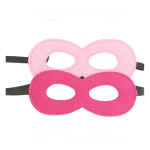 pink and hot pink felt superhero mask