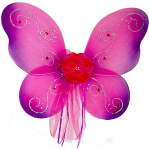 Girls fairy wings fuchsia with purple