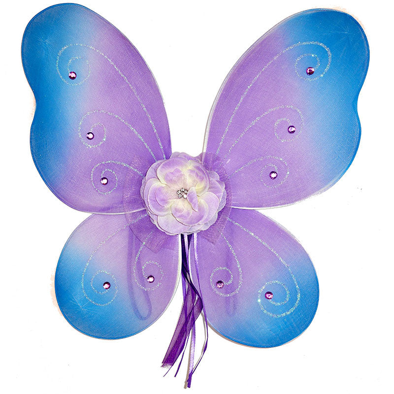 Girls fairy wings lilac with blue