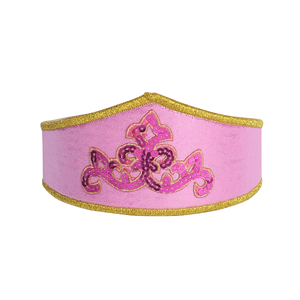 girl's pink regal adventure crown for play