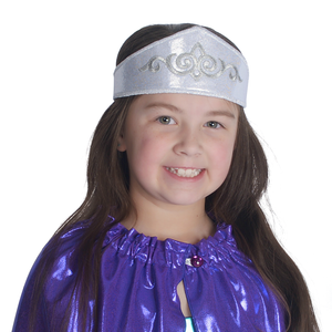Kids's silver regal adventure crown for play