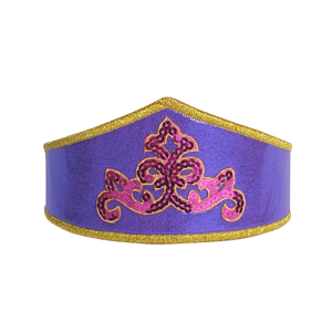 girls shiny purple dressup crown