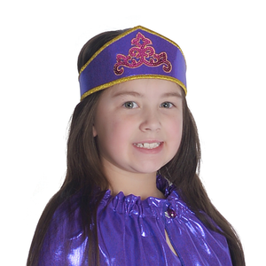 Kids's purple regal adventure crown for play