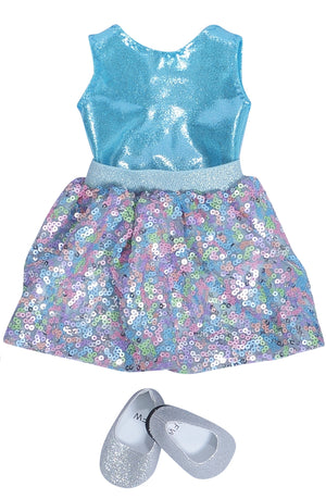 Doll Sequin Skirt Set