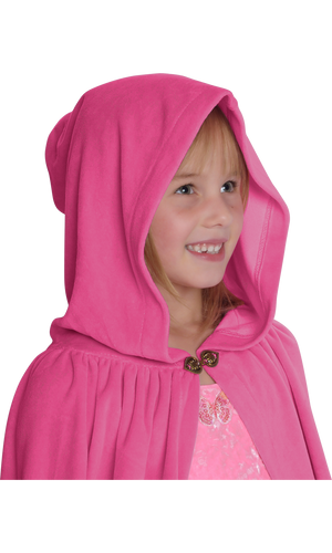 Cotton Velour Cape with Ribbon Trim