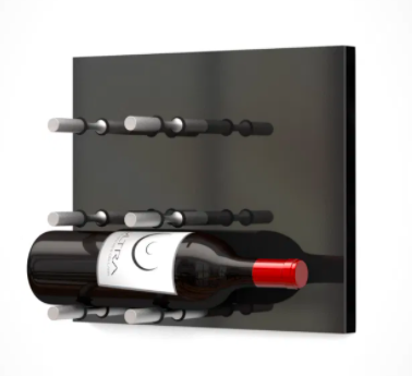 Fusion Wine Wall Panel (Label Forward)—Black Acrylic (3 Bottles)