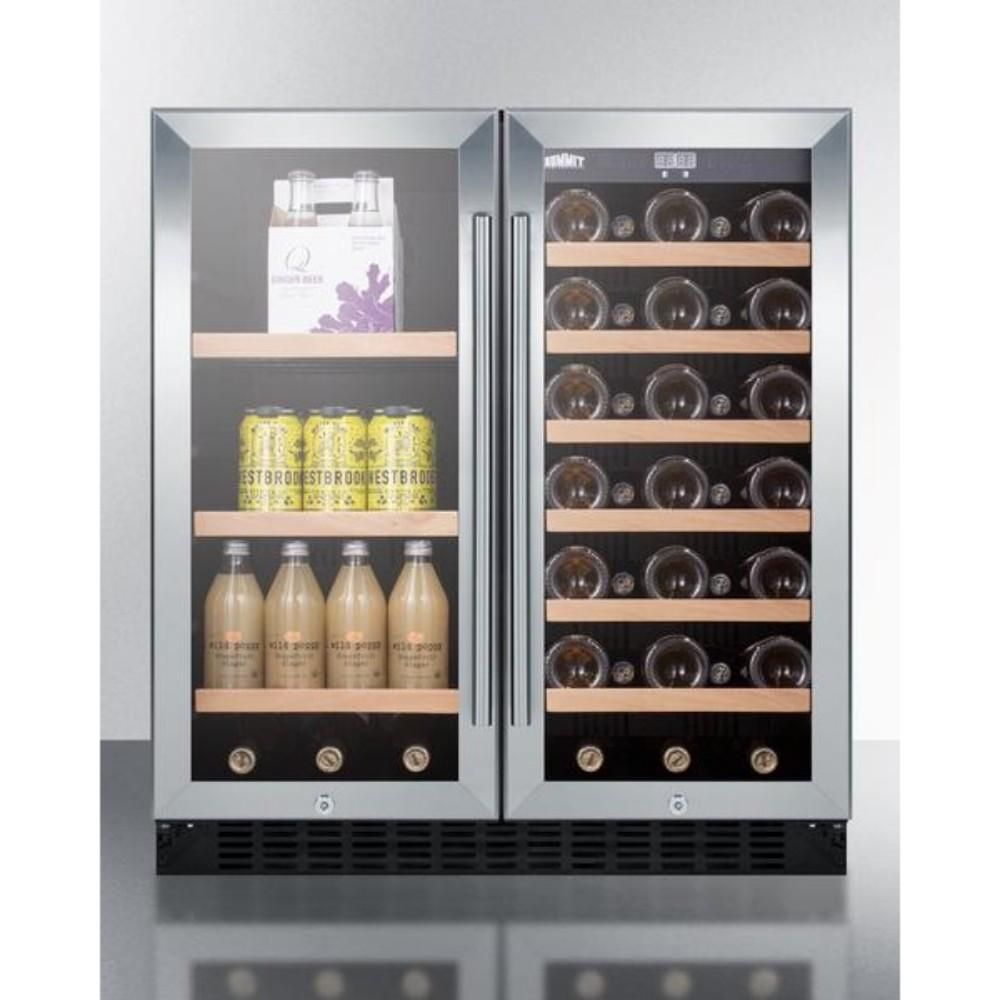 Summit 30 Quot Wide Built In Dual Zone Wine And Beverage