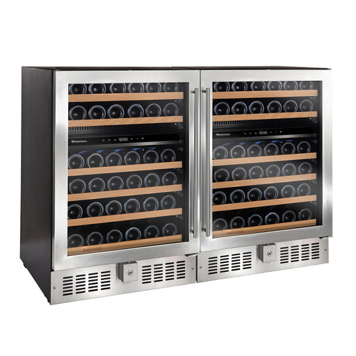 N'FINITY Double S Dual Zone Wine Cellar (Stainless Steel Door)