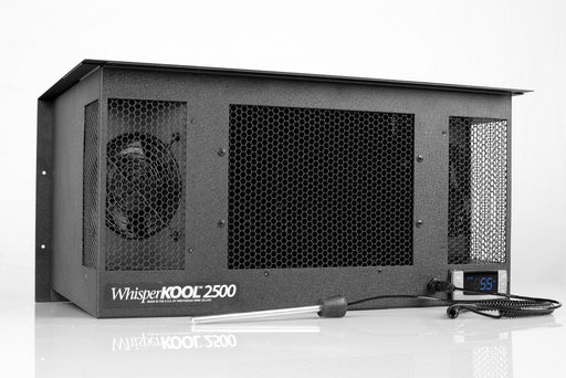 The WhisperKOOL 2500 Wine Cabinet Cooling System with temperature probe