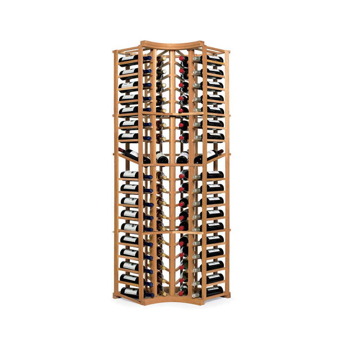 N'FINITY Natural Wine Rack Kit - 4 Column Curved Corner with Display