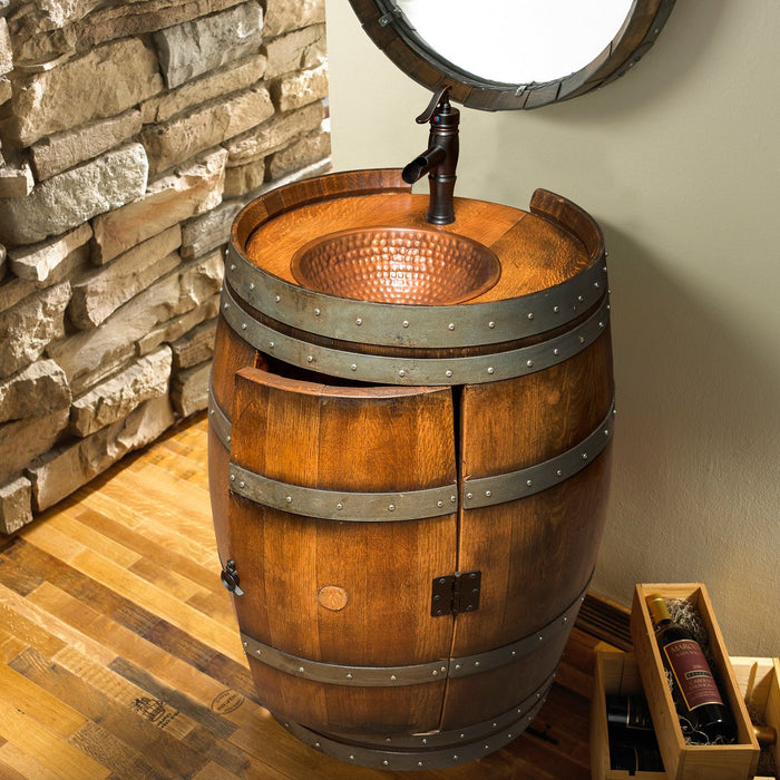 Reclaimed Wine Barrel Vanity - 324 34 03