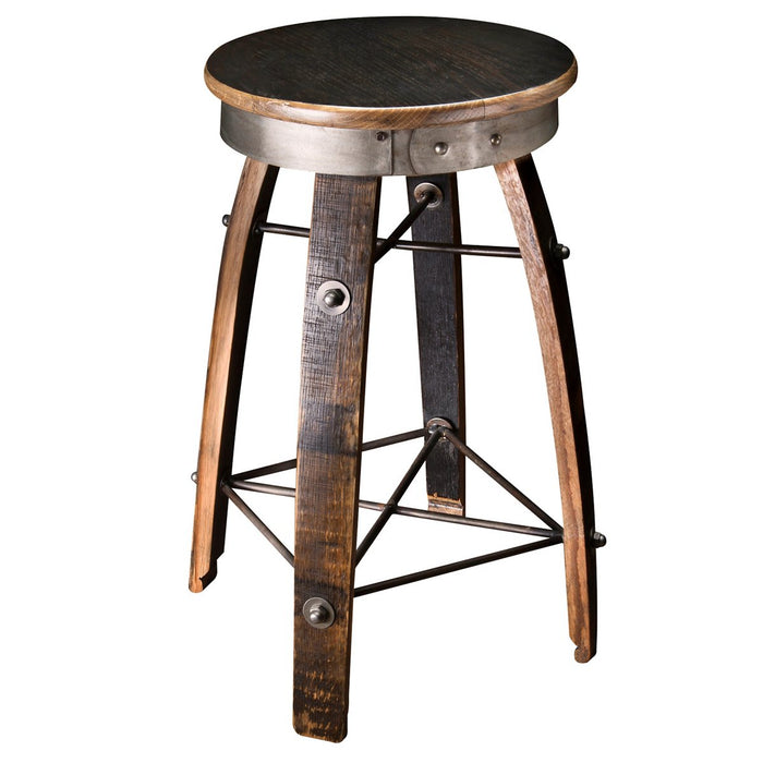 Bourbon Barrel Stave Swivel Stool - 326 41 01