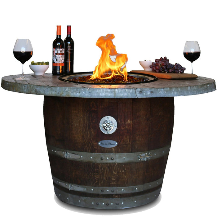 Reclaimed Wine Barrel Estate Fire Pit
