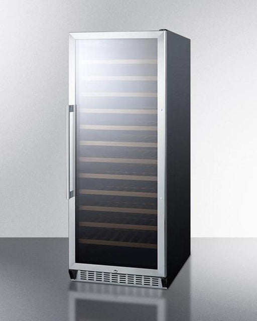 Summit 102 Bottle Single-Zone Wine Cooler w/ Glass Door, Digital Thermostat