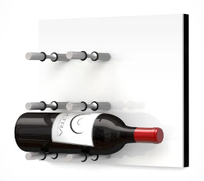 Fusion Wine Wall Panel (Label Forward) - White Acrylic (3 Bottles)